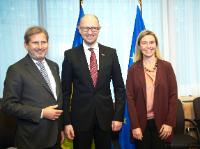 Participation de Federica Mogherini, vice-présidente de la CE, et Johannes Hahn, membre de la CE, à la réunion du Conseil d'association UE/Ukraine