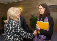 Visite d'Emily O'Reilly, médiatrice européenne, à la CE