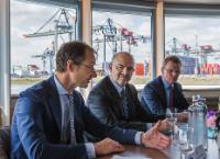Visite de Pierre Moscovici, membre de la CE, aux Pays Bas