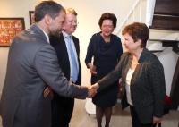 Kristalina Georgieva, Vice-President of the EC, meets with representatives of the Community of Sant'Egidio