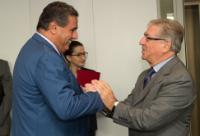 Visite d'Aziz Akhannouch, ministre marocain de l'Agriculture et de la Pêche maritime, à la CE
