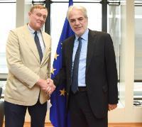 Visite de Nicolas Borsinger, président de l'ONG VOICE, à la CE