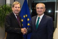 Visite d'Ilir Meta, président du Parlement albanais, à la CE