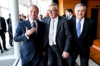Press conference by Jean-Claude Juncker, President of the EC, Antonio Tajani, President of the EP and Joseph Muscat, Maltese Prime Minister at the EP