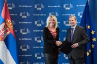 Visit of Jadranka Joksimović, Serbian Minister without portfolio responsible for European Integration, to the EC