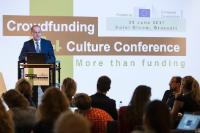 Tibor Navracsics, Member of the EC, at the Conference 'Crowdfunding4Culture'