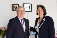 Visit of Pat Cox, President of the Jean Monnet Foundation for Europe, to the EC