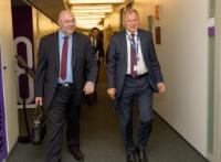 Visite de Stéphane Travert, ministre français de l'Agriculture et de l'Alimentation, à la CE