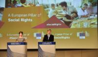 Joint press conference by Valdis Dombrovskis, Vice President of the EC, and Marianne Thyssen on the next steps for the European Pillar of Social Rights and the consultation process with the social partners concerning the update of the rules for employment contracts