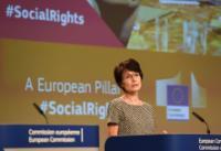 Conférence de presse conjointe de Valdis Dombrovskis, vice-président de la CE, et Marianne Thyssen, membre de la CE, sur le suivi du Socle européen des droits sociaux et la consultation des partenaires sociaux concernant la mise à jour des règles sur les contrats de travail.