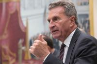Visit of Günther Oettinger, Member of the EC, to Belgium