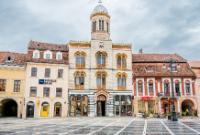 General views of Sibiu and Brașov in Transylvania, Romania