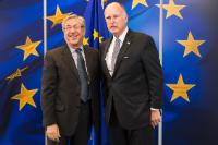 Visit of Jerry Brown, Governor of California, to the EC