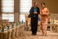 Visite de Federica Mogherini, vice-présidente de la CE, en Birmanie
