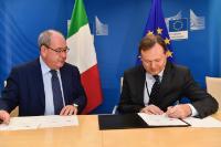 Signature d'un arrangement administratif sur WiFi4EU avec l'Italie