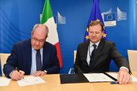 Signature d'un accord administratif sur WiFi4EU avec l'Italie