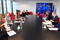 Visit of Members of the Rethink Plastic Alliance, to the EC