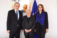 Visit of Giuseppe Zamberletti, founder of Italy's Protezione Civile (Civil Protection), to the EC