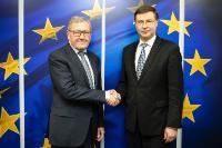 Visite de Klaus Regling, directeur général du Mécanisme européen de stabilité (MES), à la CE