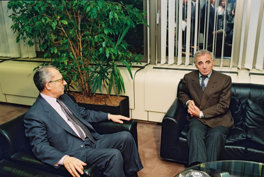 Visit by Charles Aznavour, UNESCO's Permanent Ambassador to Armenia