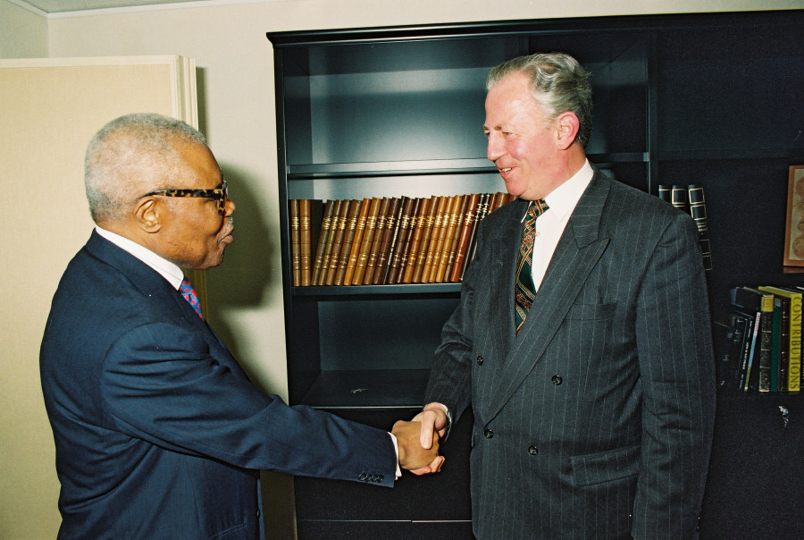 Visit of Pascal Lissouba, President of Congo, to the EC