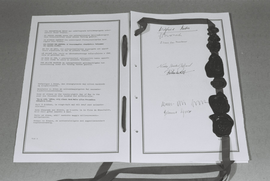 Signature pages of the Accession Treaty of Greece