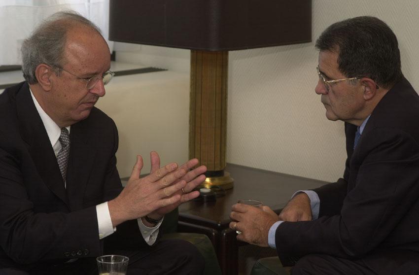 Visit d'Andrej Bajuk, Premier ministre slovène, à la CE
