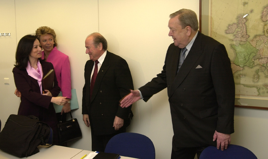 Visit of the Presidents of FIFA and UEFA to the European Commission