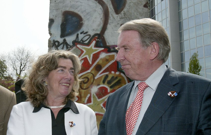 Inauguration of the Berlin Wall in Brussels