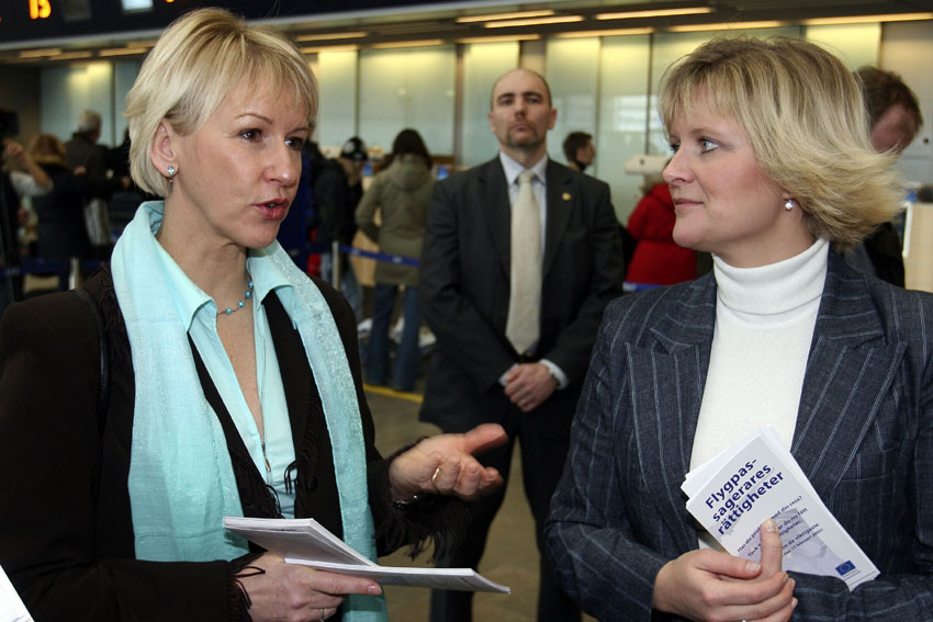 Information action by Margot Wallström, Vice-President of the EC, at Stockholm Airport