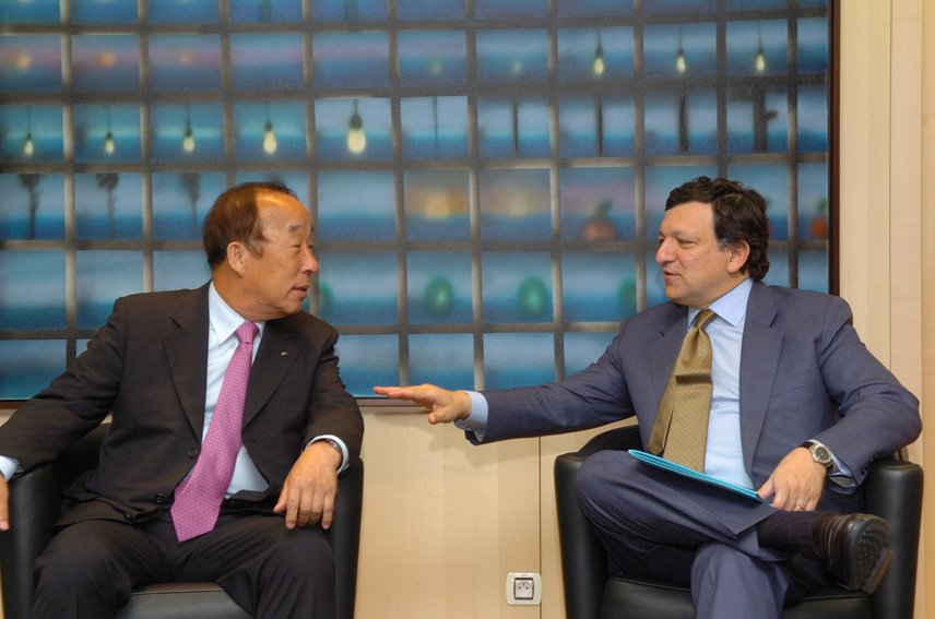 Visit of Yong Sung Park, Chairman of the Korean Chamber of Commerce and Industry, to the EC