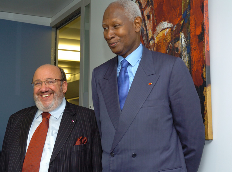 Visit of Abdou Diouf, Secretary General of the Organisation internationale de la francophonie to the EC