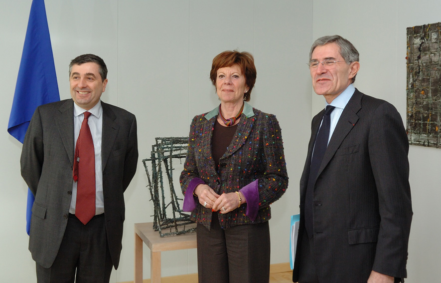 Visit by Gérard Mestrallet, CEO of Suez, and Jean-François Cirelli, CEO of Gaz de France, to the EC