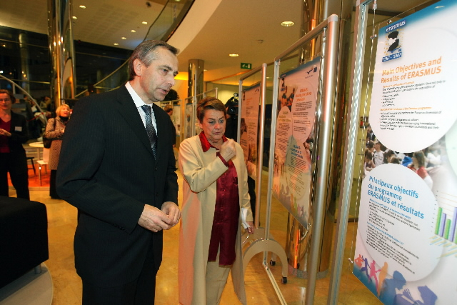 Opening of the '20 years of the Erasmus programme' exhibition, by Ján Figel', Member of the EC