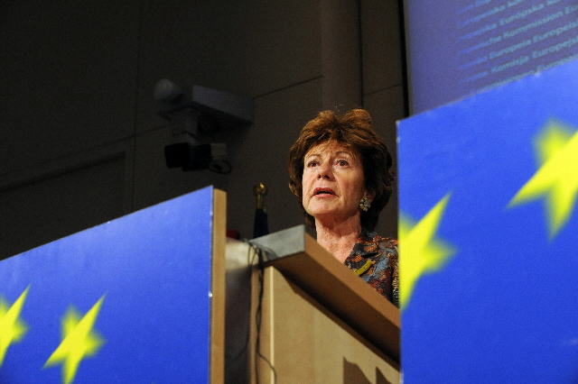 Press conference by Neelie Kroes, Member of the EC, on the fines inflicted on wax producers