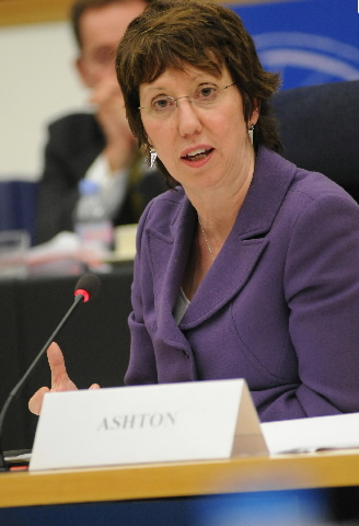 Audition de Catherine Ashton, membre de la CE, au PE
