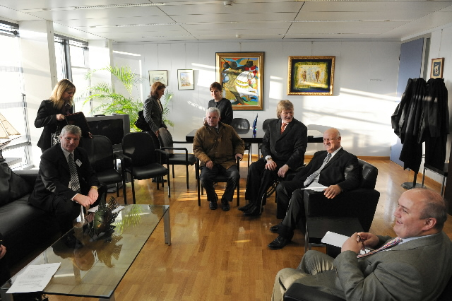 Visit of a delegation of Irish fishermen to the EC