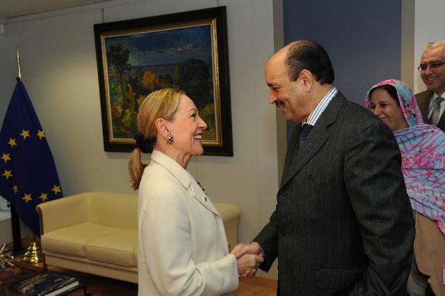 Visite de Khali Hanna Ould Er-Rachid, président du Conseil royal consultatif pour les affaires sahariennes du Maroc, à la CE