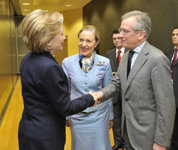 Visit of Hillary Clinton, US Secretary of State, to the EC