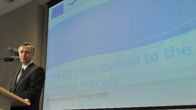 Press conference by Ján Figel', Member of the EC, on the reform of the Bologna process