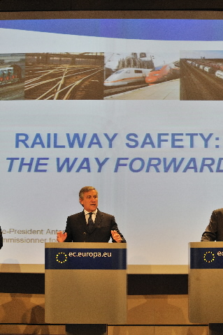 Press conference by Antonio Tajani, Vice-President of the EC, on railway safety