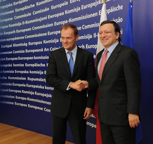 Visite de Donald Tusk, Premier ministre polonais, à la CE
