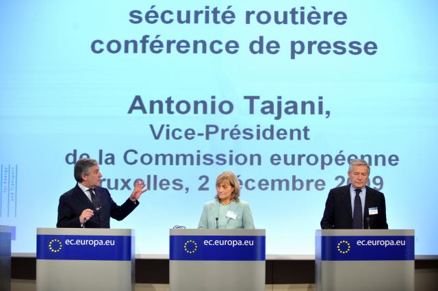 Press conference by Antonio Tajani, Vice-President of the EC in charge of Transport, on road safety