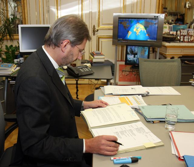 Johannes Hahn, Member designate of the EC