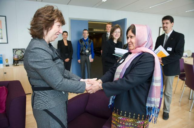 Visit of Soraya Rahim Sobhrang, Member of the Afghan Independent Human Rights Commission in charge of Women's Rights, to the EC