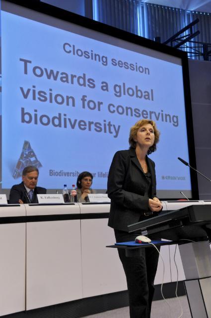 Participation de Connie Hedegaard, membre de la CE, à la session de clôture de la Semaine verte 2010