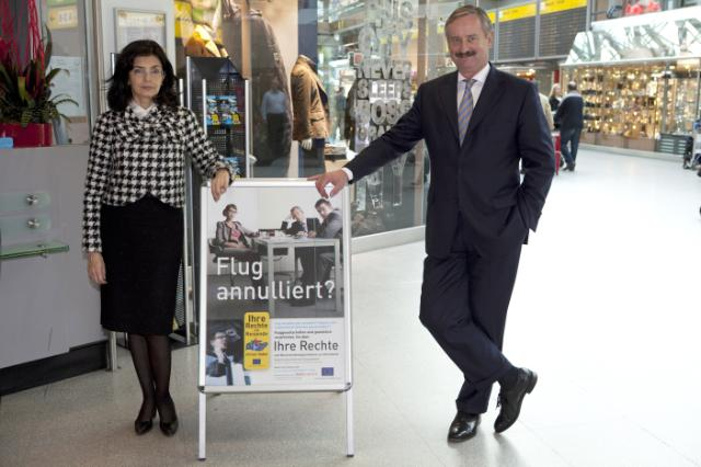 Visit of Siim Kallas, Vice-President of the EC, of the Berlin Tegel airport