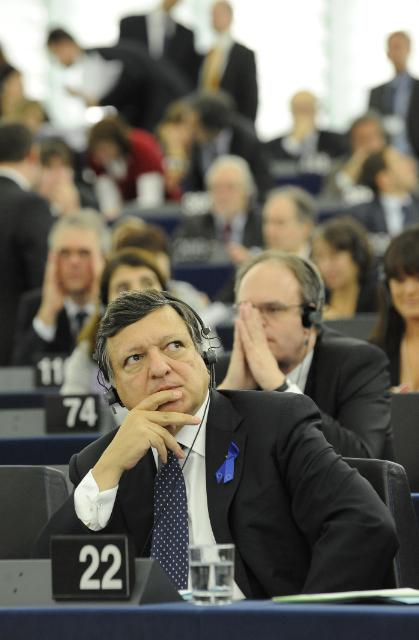 Participation of the College of the EC at the EP plenary session