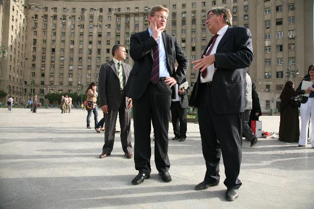 Visite de Štefan Füle, membre de la CE, en Egypte