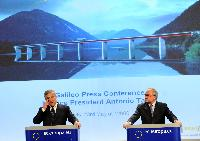 Joint press conference by Antonio Tajani, Vice-President of the EC, and Jean-Jacques Dordain, Director General of ESA, on the take off of the Galileo EU satellites